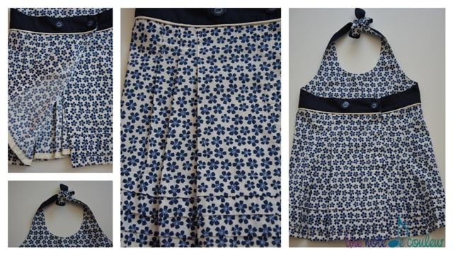 defi plis tunique bleue